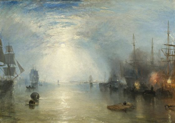 Turner, Joseph Mallord William: Keelmen Heaving in Coals by Moonlight. Fine Art Print/Poster. Sizes: A1/A2/A3/A4 (003542)
